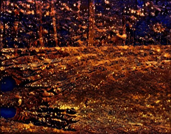 Mottled Mixed Media - Firefly Woodlands Viii by Marshall Thomas