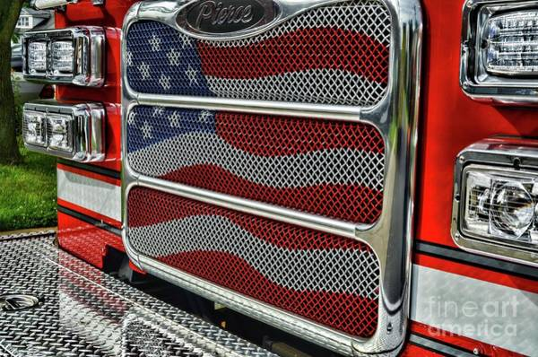 Wall Art - Photograph - Fireman American Pride by Paul Ward