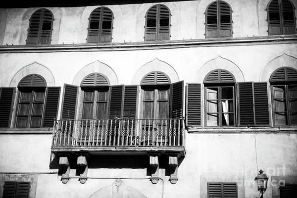 Photograph - Firenze Balcony by John Rizzuto