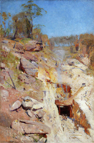 Wall Art - Painting - Fire's On - Digital Remastered Edition by Arthur Streeton