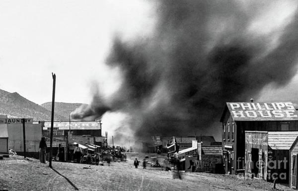 Photograph - Fires Ravage Randsburg, Ca - Circa 1898 by Doc Braham