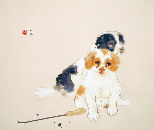 Wall Art - Painting - Fireside - Digital Remastered Edition by Takeuchi Seiho