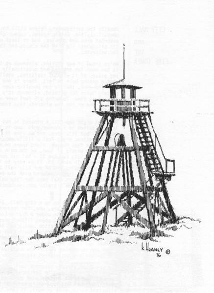 Drawing - Firetower Helena, Montana by Kevin Heaney