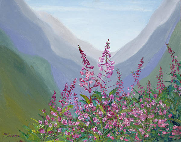 Painting - Fireweed Basin by Mary Giacomini