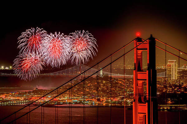 Northern California Wall Art - Photograph - Firework At San Francisco, California by Spondylolithesis
