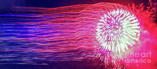 Wall Art - Photograph - Fireworks In Abstract 2019 by D Davila