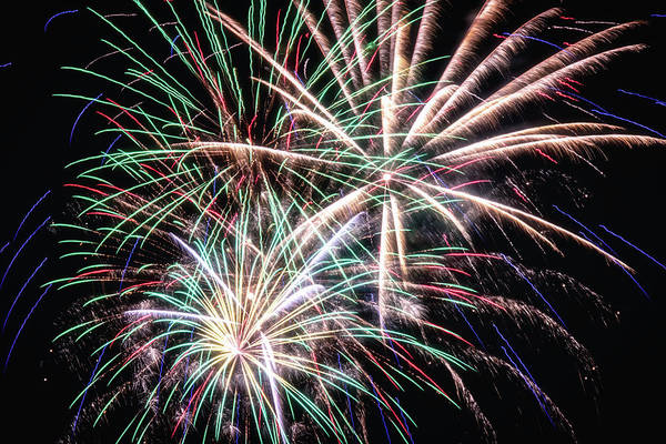 Wall Art - Photograph - Fireworks 2019 Eight by Marnie Patchett