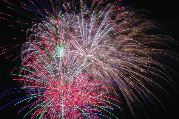 Wall Art - Photograph - Fireworks 2019 Three by Marnie Patchett