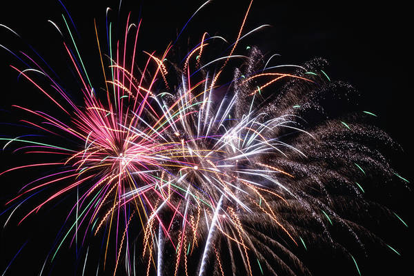 Wall Art - Photograph - Fireworks 2019 Two by Marnie Patchett