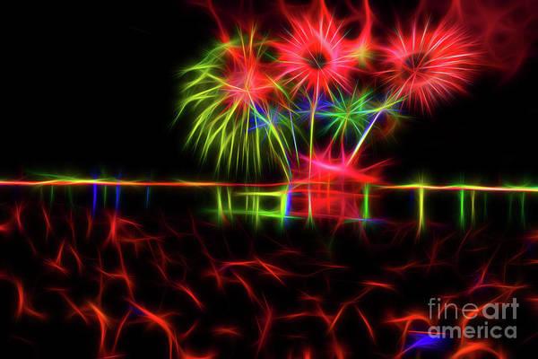 Wall Art - Mixed Media - Fireworks 21 by Viktor Birkus