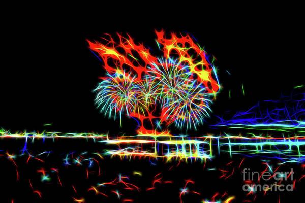 Wall Art - Mixed Media - Fireworks 9 by Viktor Birkus