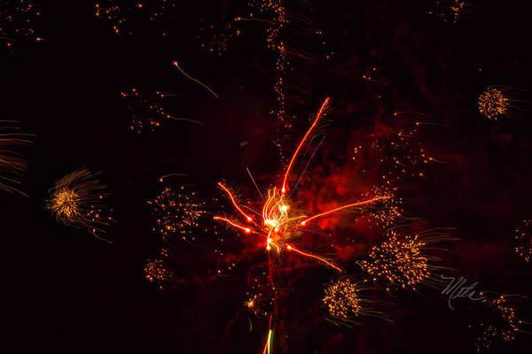 Photograph - Fireworks Alien by Meta Gatschenberger