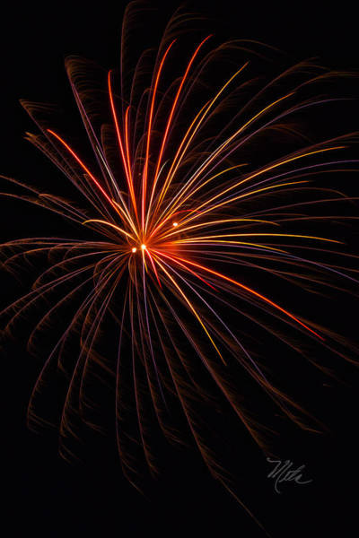 Photograph - Fireworks Burst by Meta Gatschenberger