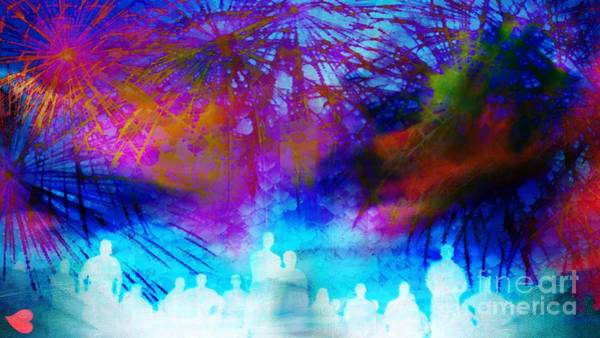 Painting - Fireworks by Catherine Lott