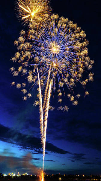 Wall Art - Photograph - Fireworks Celebration - #1 by Stephen Stookey