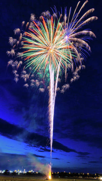 Wall Art - Photograph - Fireworks Celebration - #2 by Stephen Stookey