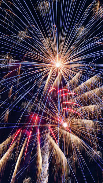 Wall Art - Photograph - Fireworks Celebration - #3 by Stephen Stookey