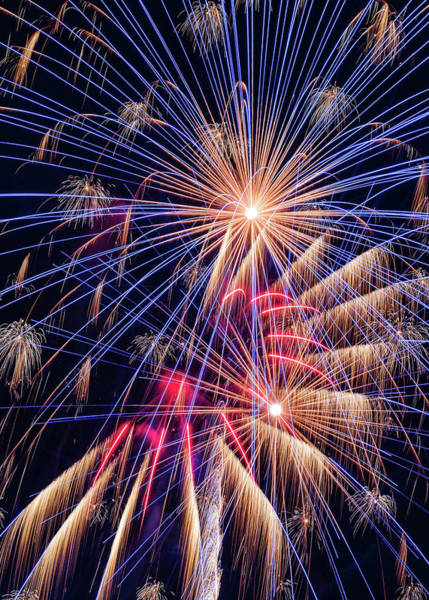 Wall Art - Photograph - Fireworks Celebration - #4 by Stephen Stookey