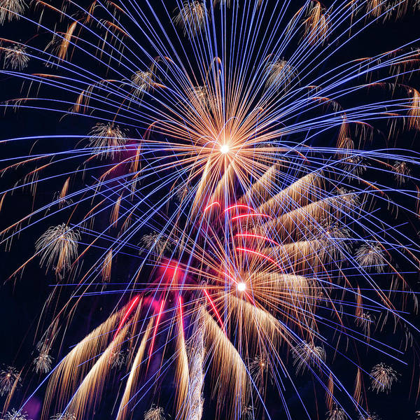 Wall Art - Photograph - Fireworks Celebration - #5 by Stephen Stookey