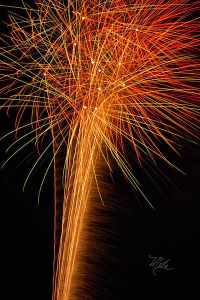 Photograph - Fireworks Cone by Meta Gatschenberger