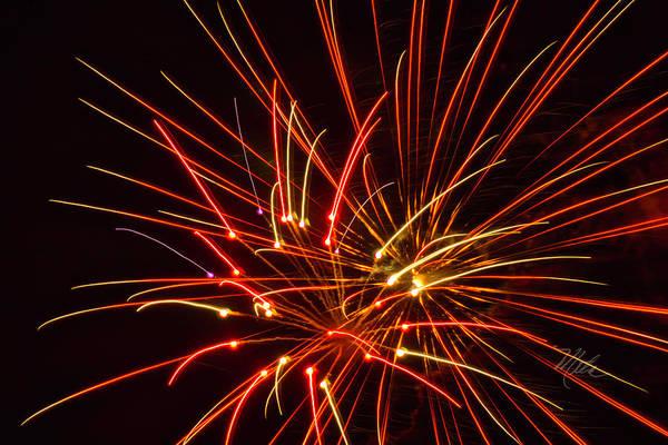 Photograph - Fireworks Electricity by Meta Gatschenberger