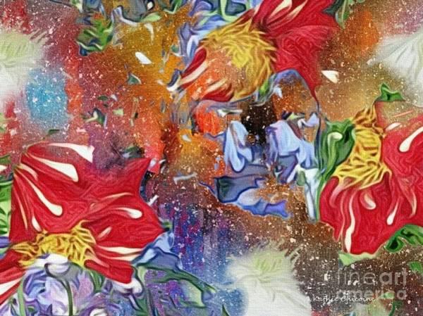 Digital Art - Fireworks by Kathie Chicoine
