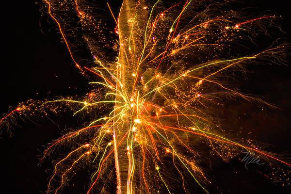 Photograph - Fireworks Neuron Explosion by Meta Gatschenberger
