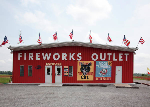 Merchandise Photograph - Fireworks Outlet by Buyenlarge