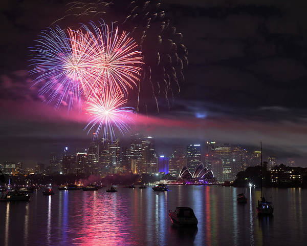New South Wales Photograph - Fireworks Over Sydney by Matteo Colombo