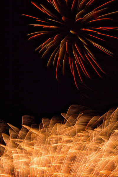 Photograph - Fireworks Static by Meta Gatschenberger