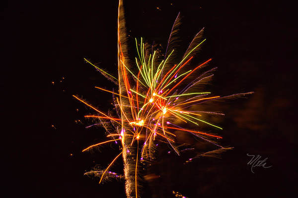 Photograph - Fireworks Happy New Year by Meta Gatschenberger