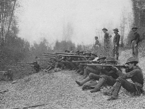 Rifle Photograph - Firing On Insurgents by Hulton Archive
