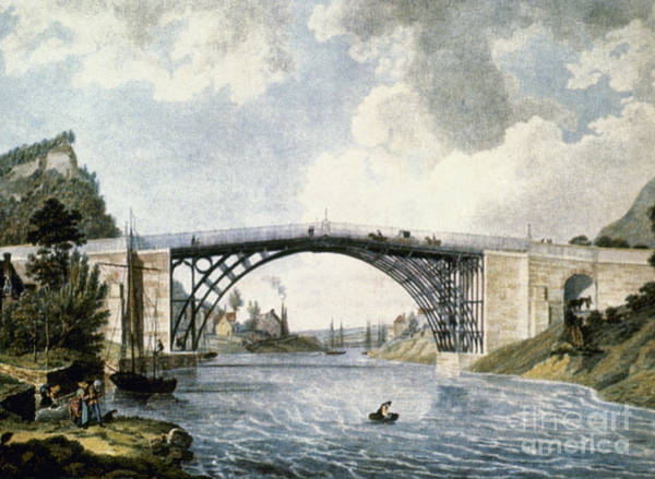 Photograph - First All-iron Bridge, 1779 by Granger