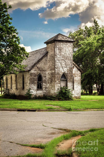 Photograph - First Baptist Church Colored by Imagery by Charly