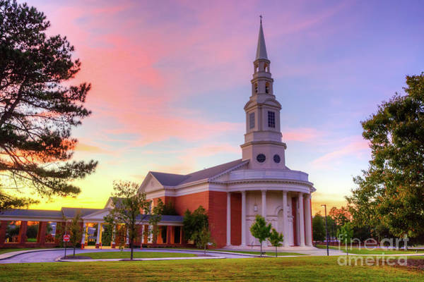 Photograph - First Baptist Church Of Augusta Sunset by Sanjeev Singhal