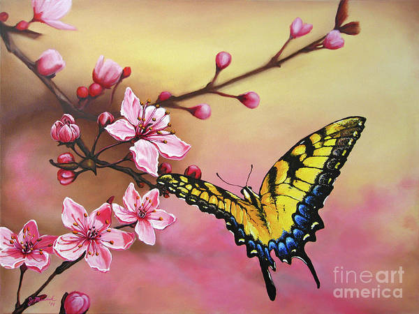 Painting - First Blossom Of The Morning by Joe Mandrick