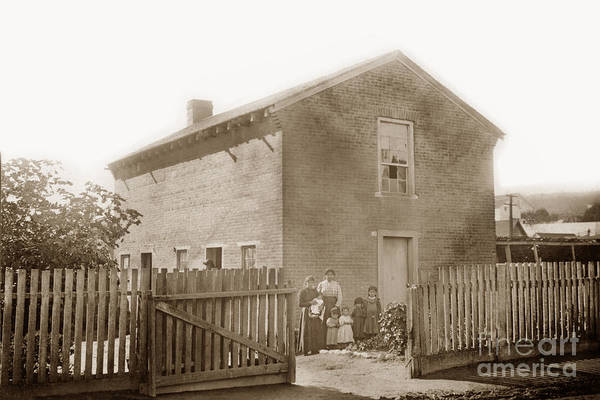 Photograph - First Brick House In California. Built By The Gallant Dickinson  by California Views Archives Mr Pat Hathaway Archives