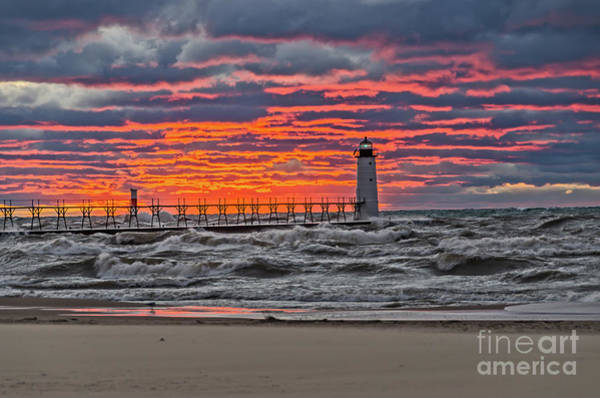 Photograph - First Day Of Fall Sunset by Sue Smith
