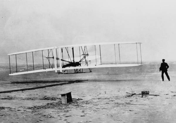 1900 Photograph - First Flight by Fox Photos