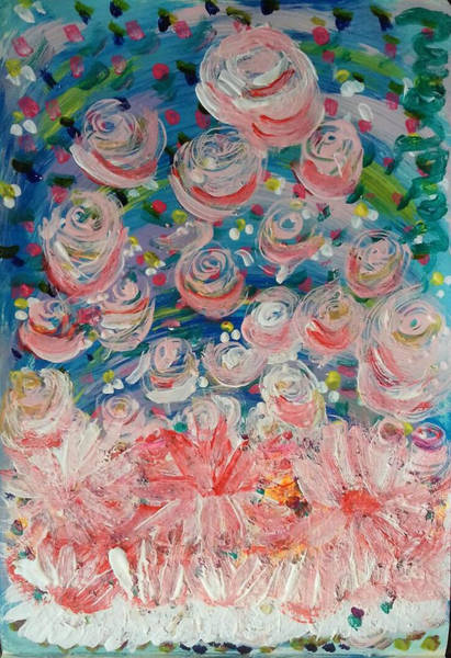 Painting - First Flowers by Darabem Artist