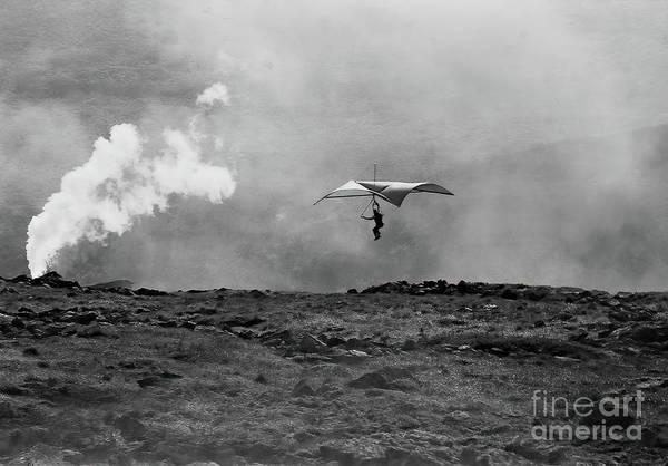 Wall Art - Photograph - first hang glider flight off Mt. Washington by Jonathan Lingel