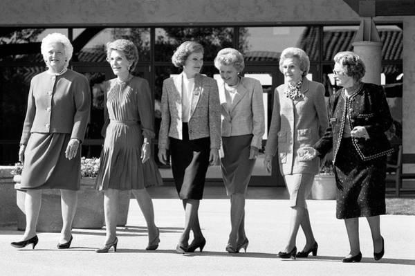 Us President Photograph - First Ladies Attend Reagan Library by David Hume Kennerly