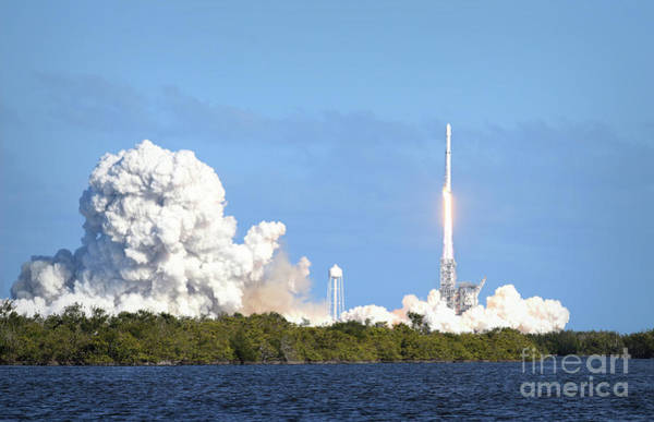 Photograph - First Launch Of The Falcon Heavy by Charles Owens