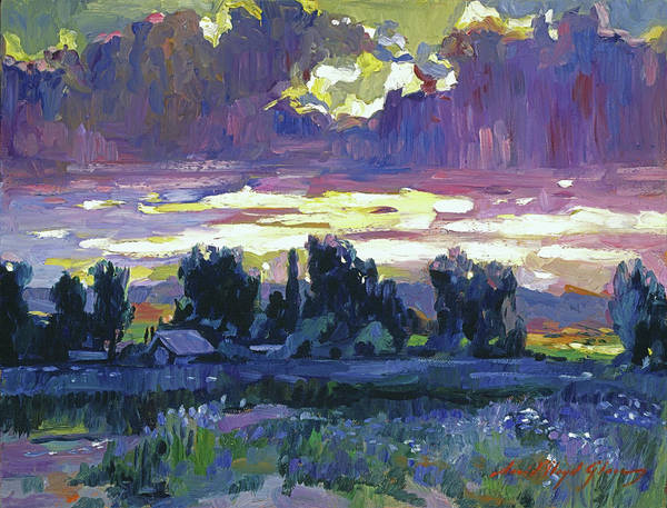 Painting - First Light At Arles by David Lloyd Glover