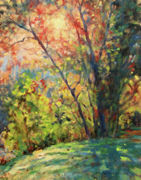 Wall Art - Painting - First Light - Morning Walk At Sunrise by Bonnie Mason