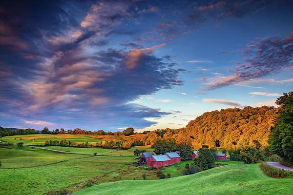 Photograph - First Light On Jenne Farm by Rick Berk