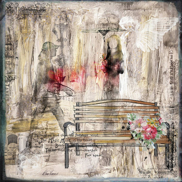 Mixed Media - First Meeting by Diana Haronis
