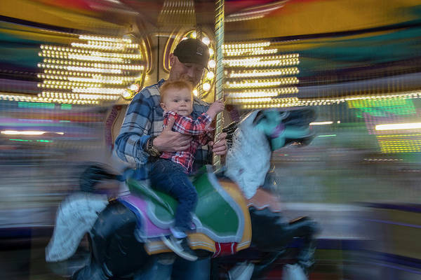 Photograph - First Merry Go Round Ride by Dan Friend