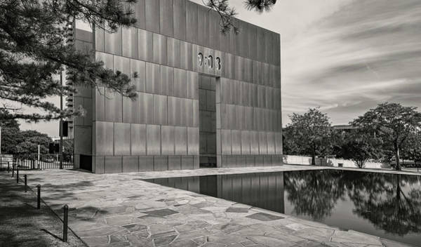 Wall Art - Photograph - First Moment Of Recovery Oklahoma City Memorial Bw by Joan Carroll