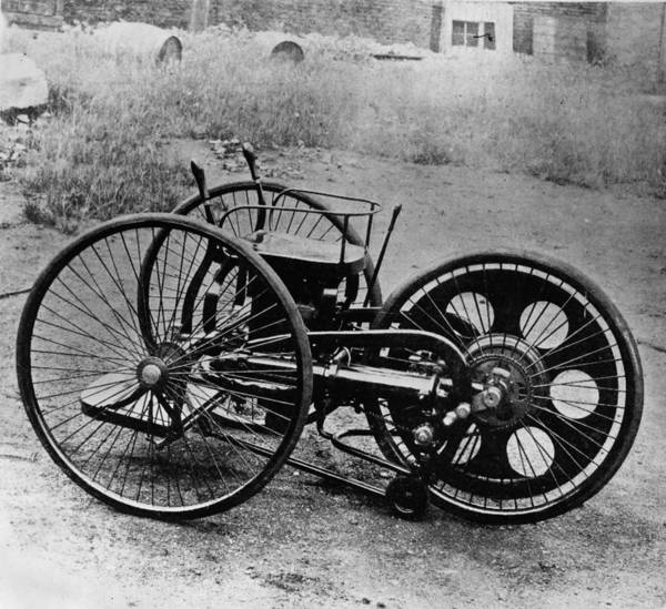 Wall Art - Photograph - First Motorcycle by Hulton Archive
